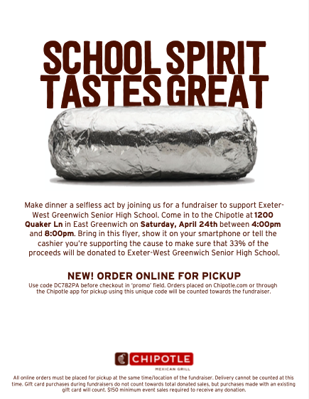2021 Chipotle Fundraiser Notice