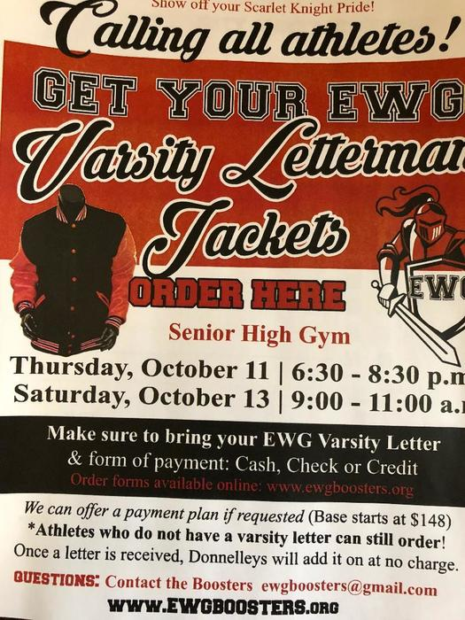 Varsity Lettermans Jackets on sale.