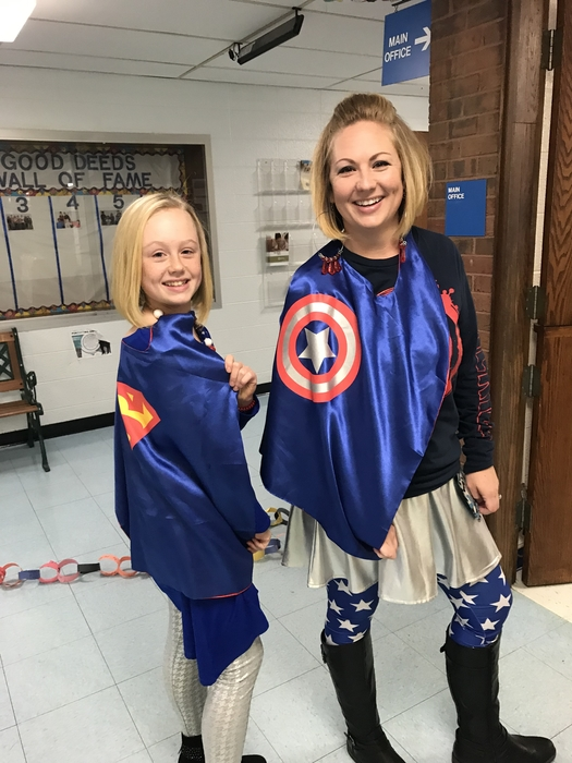 Showing their best superhero! Courage is in everyone!