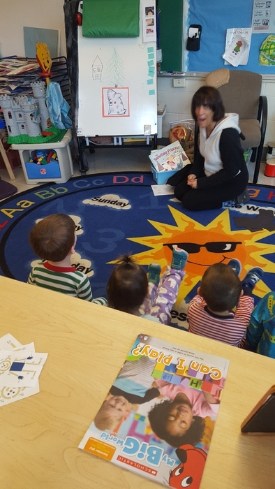 Miss Tracy shares a book