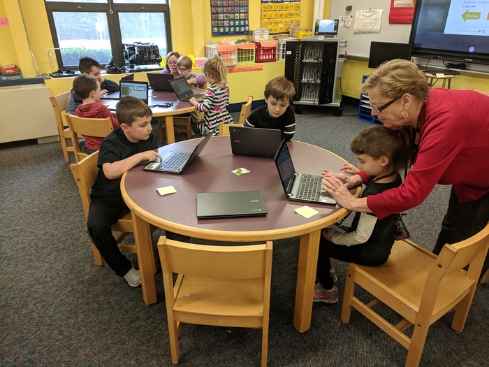 Students in Mrs. Cash's Class Coding