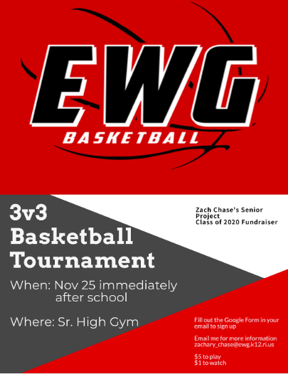 3v3 Basketball Tournament Flyer